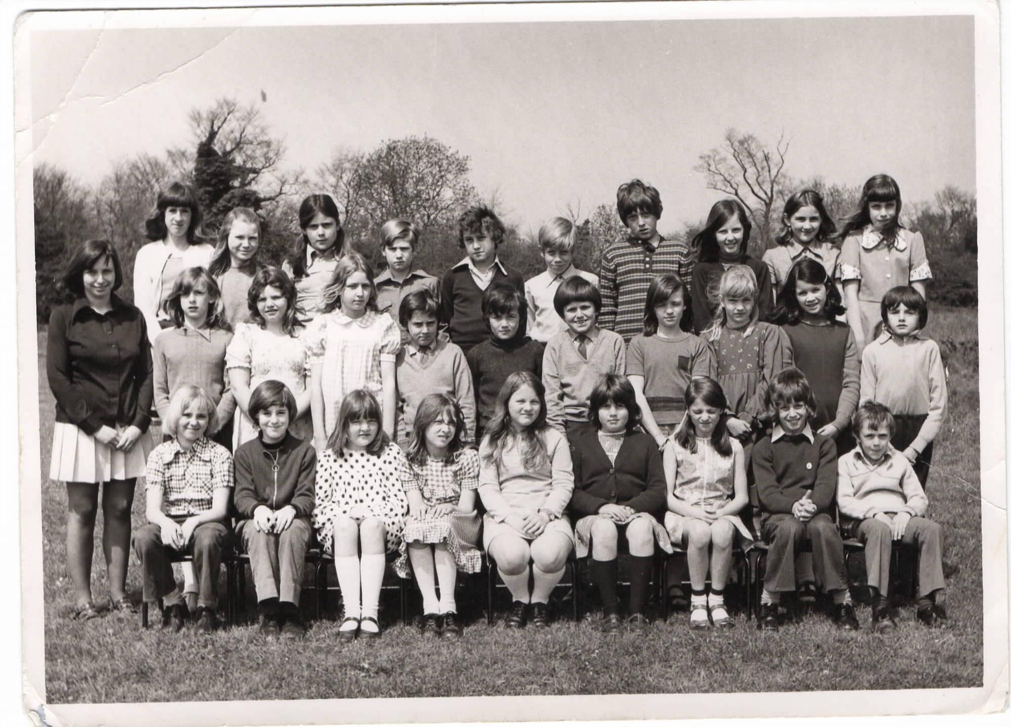 Mrs Gale's class, Chrishall School 1975