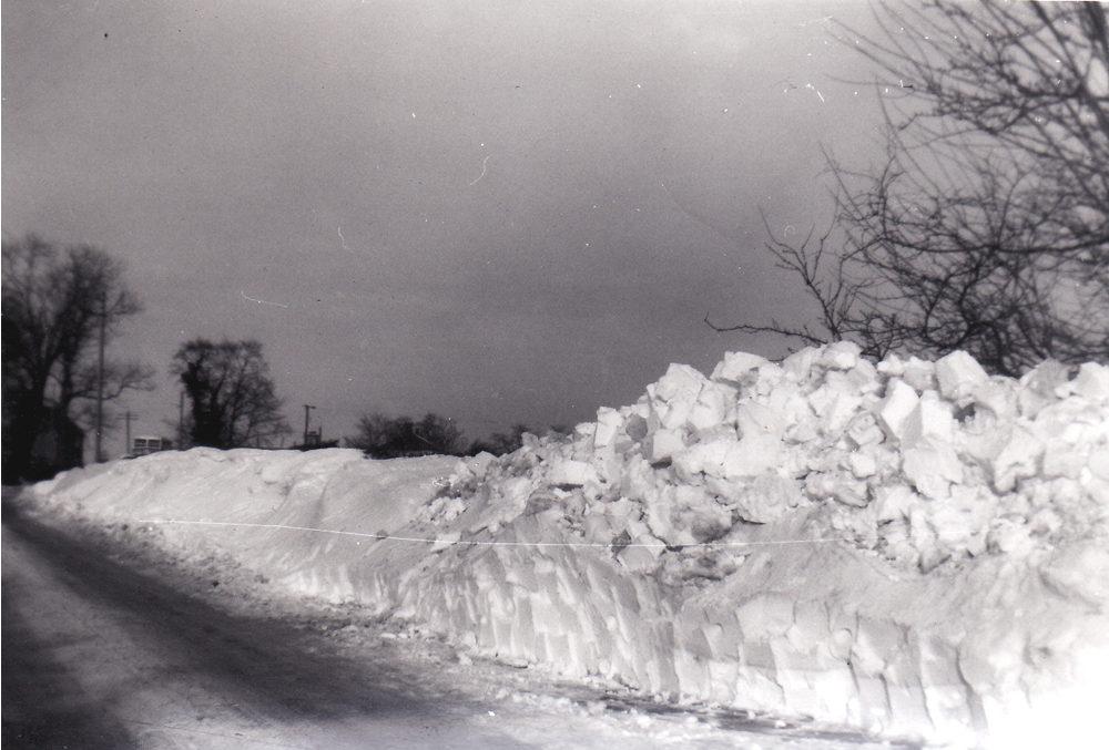 village centre snow 1959