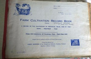 chiswick hall chrishall farm record book title page
