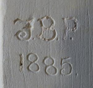 chrishall church graffiti from 1885