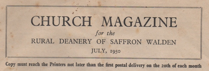Church Newsletter July 1950