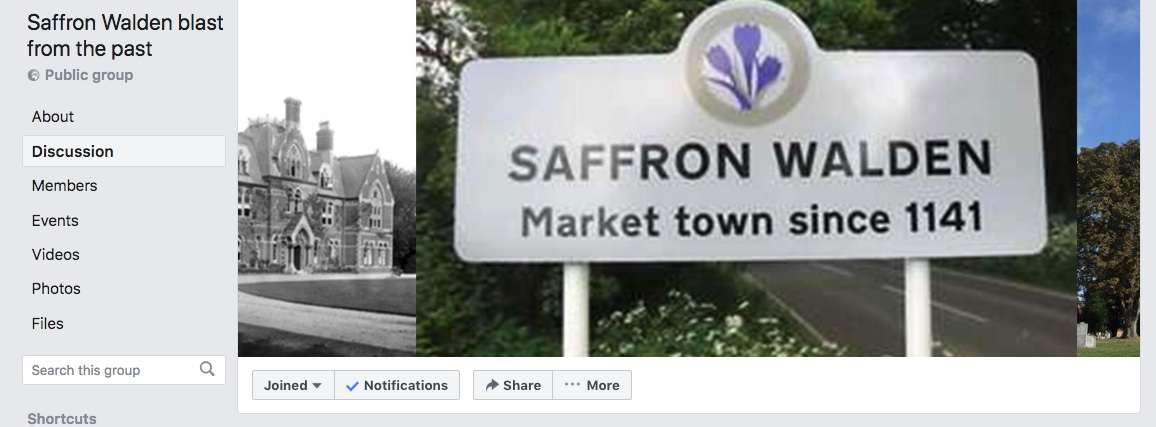 Saffron Walden Blast From the Past Facebook Group - Chrishall