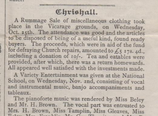 Parish Magazine December 1898