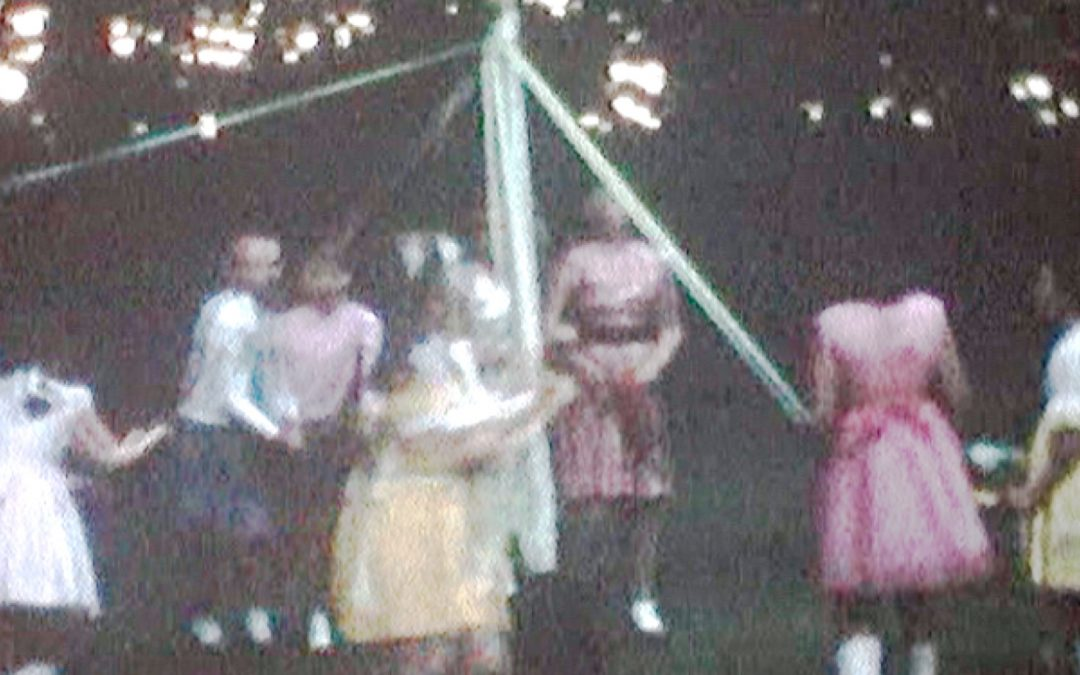 Dancing round the Maypole