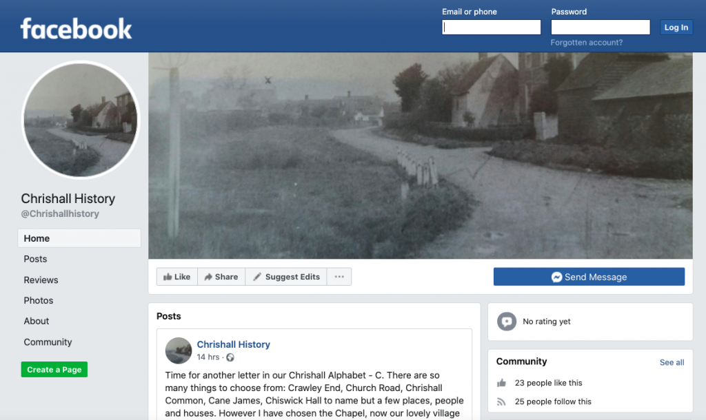 Chrishall History Facebook Page